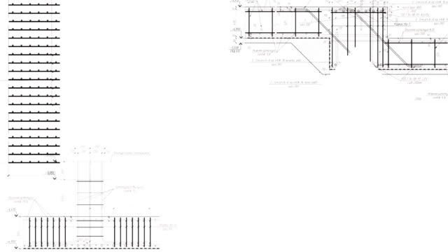 Construction drawings go in perspective video
