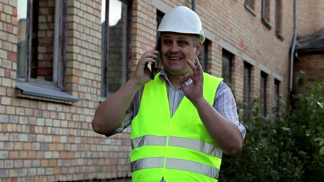 Construction employee showing o.k sign video