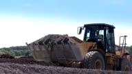 Construction equipment at work. Building. Bulldozer. video