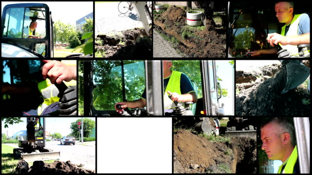 Construction Equipment at Work - Montage video