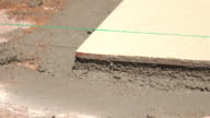 construction house cement flooring video