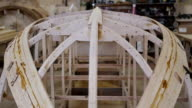 Construction of a boat at the shipyard video