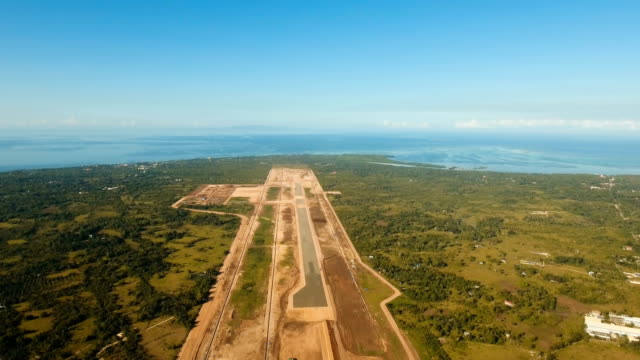 Construction of a new airport terminal.Philippines, Bohol, Panglao video