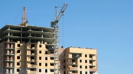 Construction of an apartment residential building video
