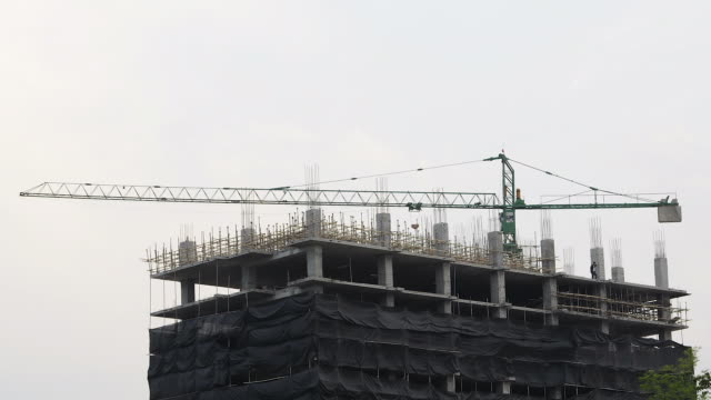 Construction of buildings. video