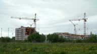 Construction of high-rise residential buildings video