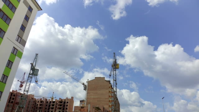 Construction of residential buildings. video
