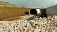Construction of underground tunnel video