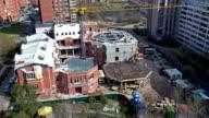 Construction. Pouring concrete slab. timelapse video