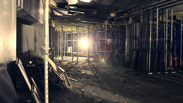 construction site at night video