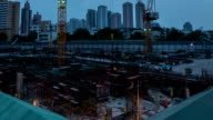 Construction Site : Day To Night Time-Lapse video