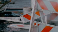 Construction site. Heating main repairs video