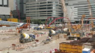 Construction Site tunnel in Hong Kong timelapse. video