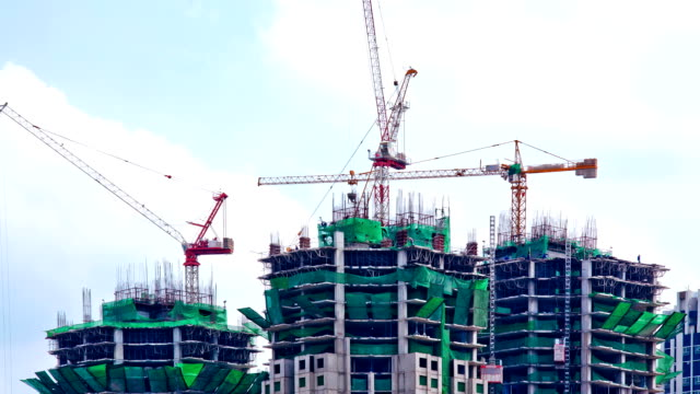 Construction Site with Crane Working video