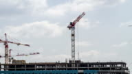 Construction site with cranes . video