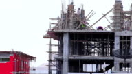 HD : Construction site workers video