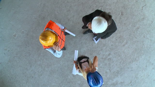 HD SLOW-MOTION: Construction Team video