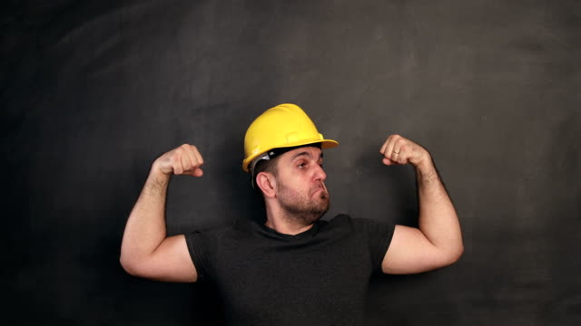 Construction worker power video