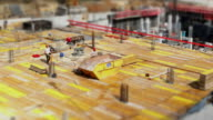 HD Construction Workers on Site (Tilt Shift & TL) video
