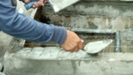 Construction workers are plastering video