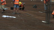 HD Construction workers on site video