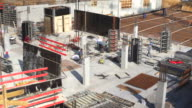 HD Construction Workers on Site (Time Lapse) video