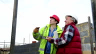 Construction Workers on Site video