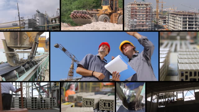 Construction workers, teamwork video
