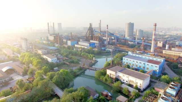 constructions and equipment of steel factory video