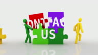 Contact us. White background. video