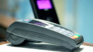 Contactless payment credit card money transaction video