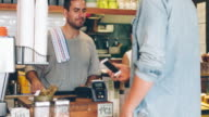 Contactless payment in the cafeteria video
