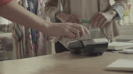 Contactless Payment with Mobile Phone in a shop video
