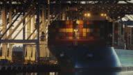 Container Cranes Unloading Cargo Ship video