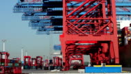Container Harbor in Hamburg, Germany - Time Lapse video