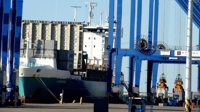 Container ship terminal video