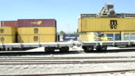 Containers at a train station video