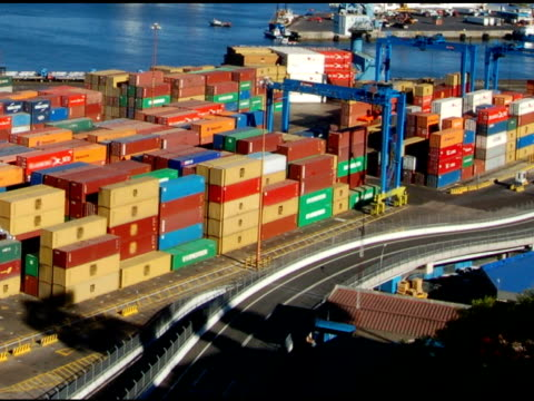Containers on the port (Timelapse) 2 video