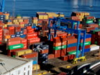 Containers on the port (Timelapse) video