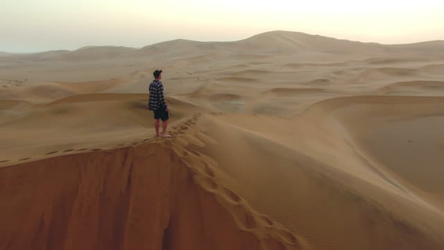 Contemplating the vastness of the desert video