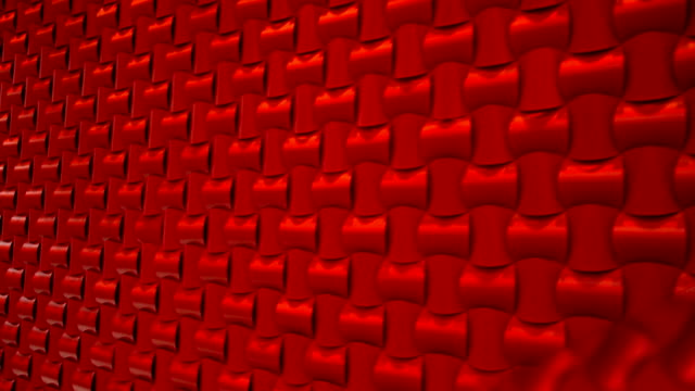 Contemporary Red Patterned Wall Track Shot. video
