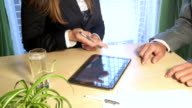 Contract sign on a digital tablet video