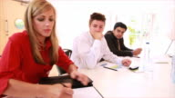 Contractual agreement and office meeting video