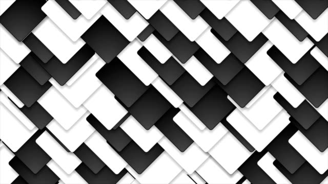 Contrast black and white abstract squares video animation video