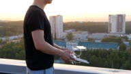 Controlling a remote helicopter drone video