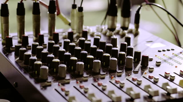 Controls of audio mixing console video