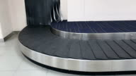 conveyor belt baggage for passenger in the airport video