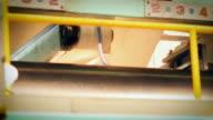 Conveyor belt in Factory video