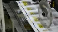 Conveyor belt on webset printing machine video