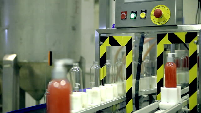 Conveyor production line of soap products video